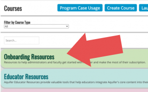 Aquifer Onboarding Resources