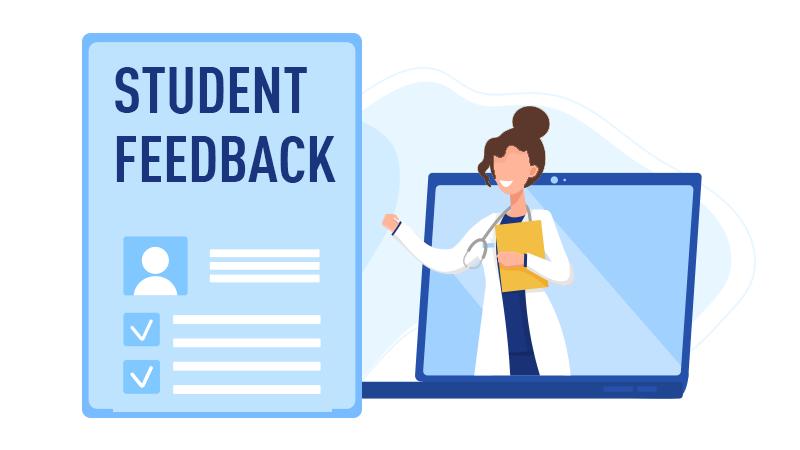 Student feedback summary graphic