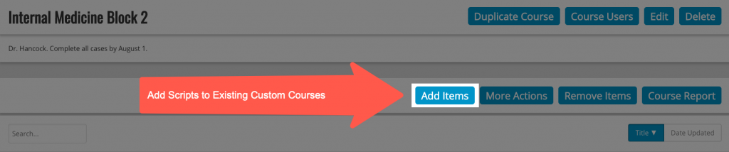 Add Integrated Illness Scripts to an Existing Course
