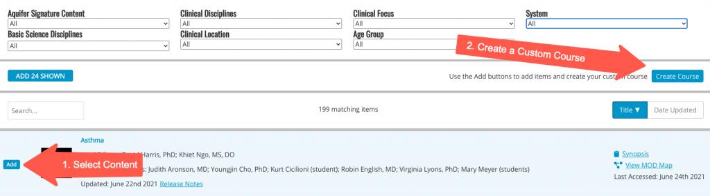 Create Custom Course with Integrated Illness Scripts