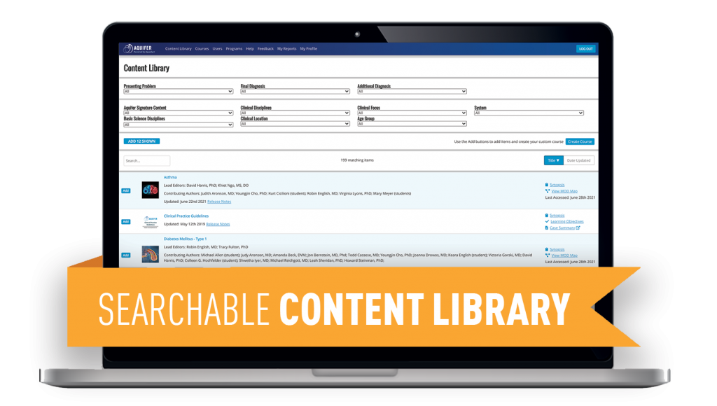 Searchable Content Library